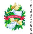 Christmas greeting card. 36709001