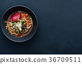 ramen traditional food asian cuisine background 36709511