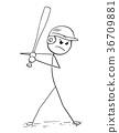 baseball player batter 36709881