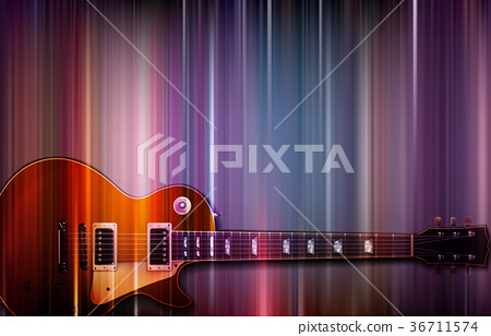 abstract grunge background with electric guitar 36711574