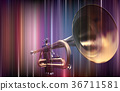 abstract blur background with trumpet 36711581