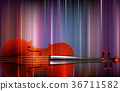 abstract blur music background with violin 36711582