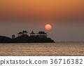 ryugujo, dawn, sunrise 36716382