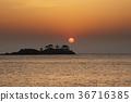 ryugujo, dawn, sunrise 36716385