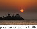 ryugujo, dawn, sunrise 36716387
