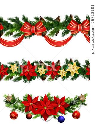 Vector Christmas Border 36718181