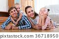 portrait, happy, family 36718950