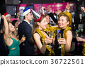Females and males celebrating new year 36722561