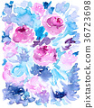 rose, roses, aquarelle 36723698
