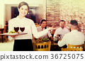 Female, waiter, restaurant 36725075