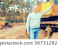tractor operator at workplace 36731282