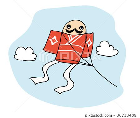 形似男僕的風箏 風箏 新年賀卡 36733409
