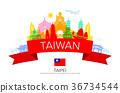 Taiwan Travel Landmarks. 36734544