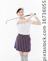 高尔夫 高尔夫球手 女性 36736055