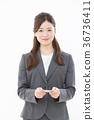 명함 교환, 비즈니스우먼, 인물 36736411