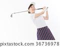 高尔夫 高尔夫球手 女性 36736978