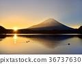 冬天 冬 富士山 36737630