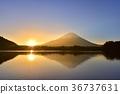 冬天 冬 富士山 36737631