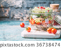 salad, jar, vegetarian 36738474