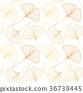 Seamless pattern with Ginkgo biloba leaves 36739445