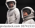 Interested family of astronauts are discovering 36741533