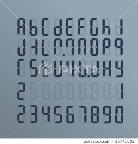 A realistic electronic alphabet from A to Z 36741602
