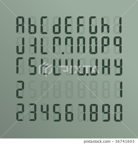 A realistic electronic alphabet from A to Z 36741603
