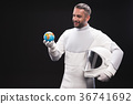 Optimistic skilled astronaut is expressing 36741692