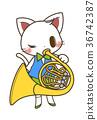 音乐 动物 演奏 36742387