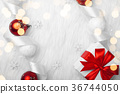 Christmas holidays composition on white fur 36744050
