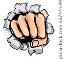 Fist Punching Hole 36744599