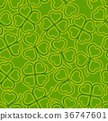 Seamless, Green Clover 36747601