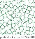 Seamless, Green Clover Contours 36747608