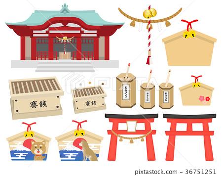 寺庙例证集合 36751251