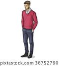 Vector man model 36752790