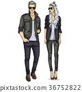 Vector woman and man 36752822