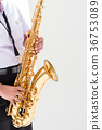 Students are playing saxophone, Thailand. 36753089