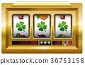 Slot Machine Lucky Clover Win 36753158