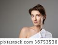 Brunette caucasian pretty woman 36753538