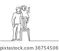 hug, stool, child 36754506