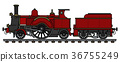 locomotive, train, vintage 36755249