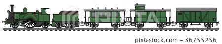 Vintage green steam train 36755256