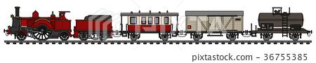 Vintage steam train 36755385