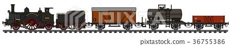 Vintage steam train 36755386