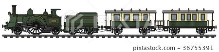 Vintage green steam train 36755391