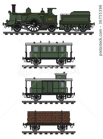 Vintage steam train 36755396