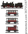 locomotive, train, vintage 36755397