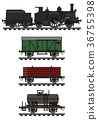 Vintage freight steam train 36755398