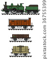 Vintage freight steam train 36755399