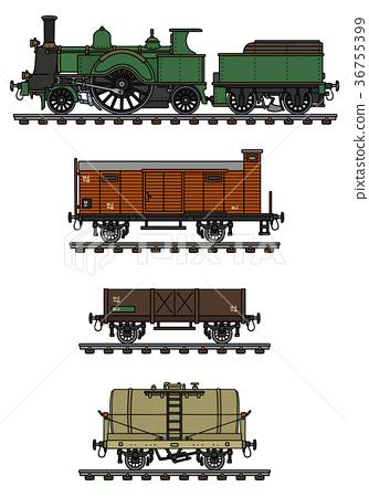 Vintage freight steam train 36755399